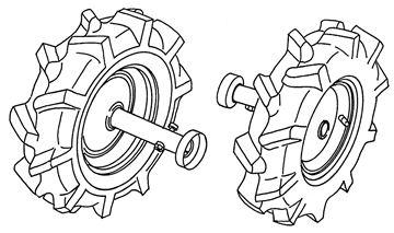 Bild von Satz Doppelräder 3.50-6 AS zu Rabbit