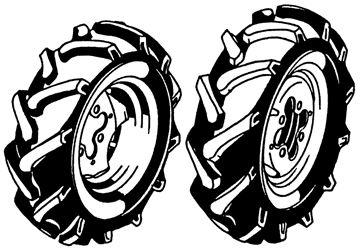 Image de jeu de roues jumelées 4.00-8 AS