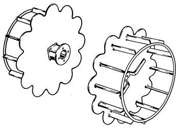 Image de paire de roues grille (noir)