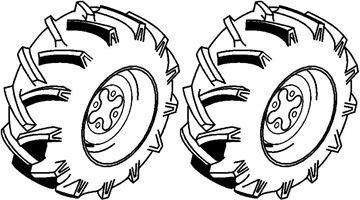 Image de paire de roues Terra 16x6.5-8